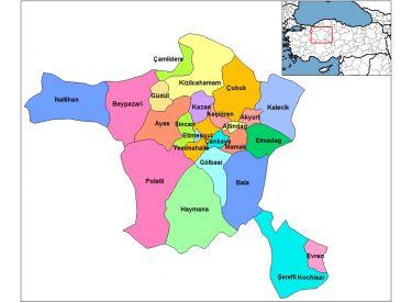 Türkiye İller Haritası – 81 ilin haritası