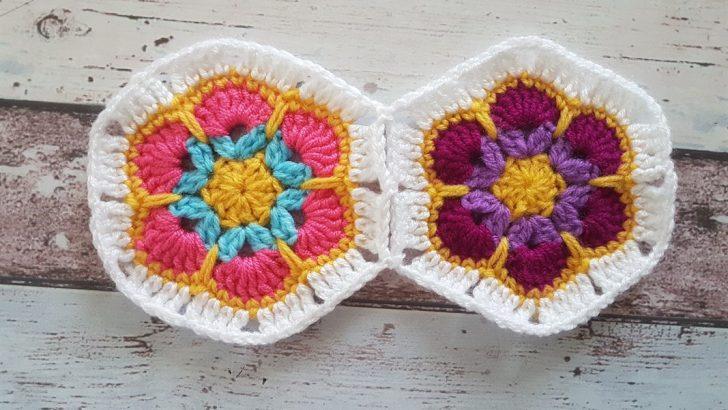 Afrika Çiçeği Motifi Yapımı – Battaniye, hırka, kırlent gibi örgüler için