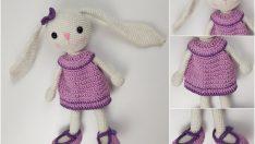 Amigurumi uzun kulak tavşan yapımı