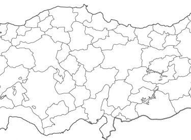 Türkiye Haritası Iller Boyama Gazetesujin