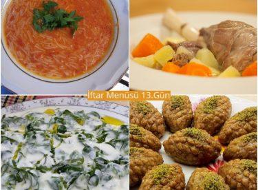Ramazan İftar Menüsü 13. Gün