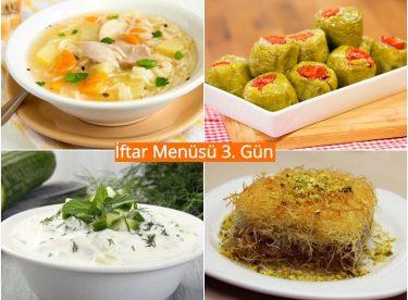 Ramazan İftar Menüsü 3. Gün