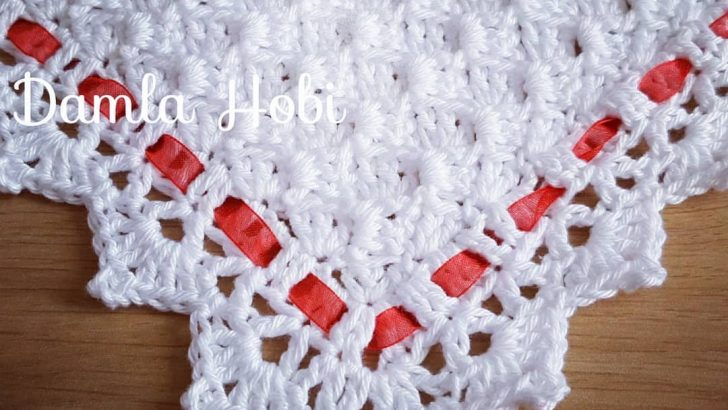 Tığ işi battaniye kenar oyası yapımı