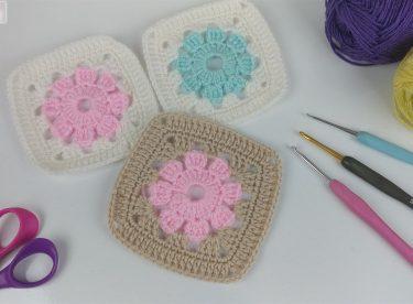 Tığ işi battaniye motifi yapımı
