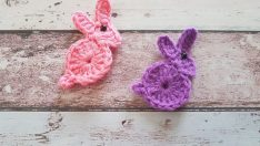 Tığ işi tavşan figürü yapımı