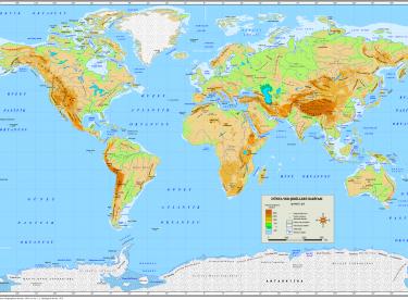 Dünya Yer Şekilleri Haritaları