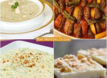 Ramazan İftar Menüsü 25.Gün