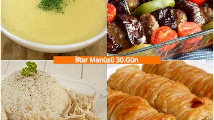 Ramazan İftar Menüsü 30.Gün