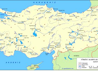 Türkiye Sular Coğrafyası Haritaları