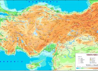 Türkiyenin Fiziki Coğrafya Haritaları Canım Anne