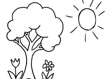Ağaç Resmi örnekleri Ve Boyama Sayfaları Canım Anne