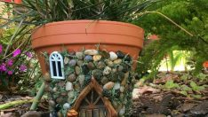 Bahçe İçin Peri Evi Saksı Yapımı