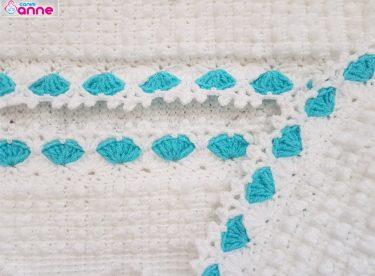 Battaniye kenar tığ yapımı