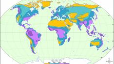 Dünya Yağış Miktarı Dağılış Haritası