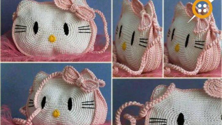 Hello Kitty Örgü Çanta Modelleri