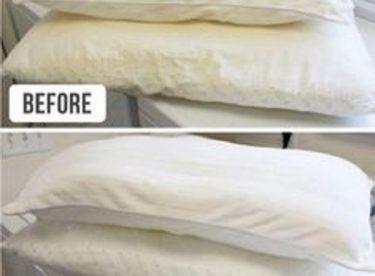 Sararan yastıklar nasıl temizlenir ?