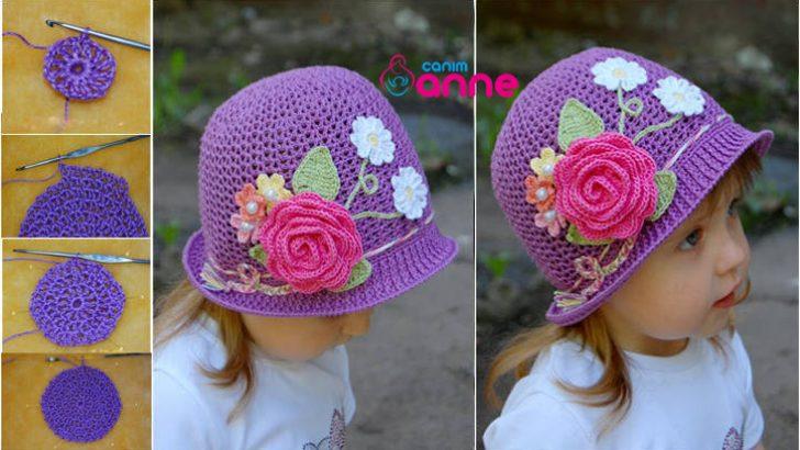 Anlatımlı Yazlık Çocuk Örgü Şapka Modelleri