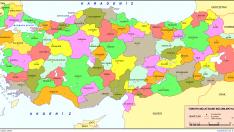 Türkiye Haritası İller Yazılı Şekilde