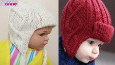 Kız ve Erkek Bebekler İçin En Güzel Bere Örnekleri