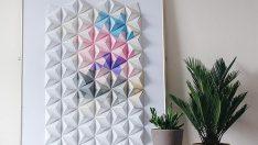 Origami Piramit Süs Yapımı
