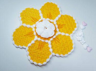 Sarı çiçek lif modeli yapılışı