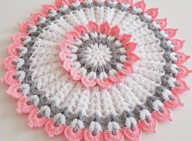 Yuvarlak çiçek lif yapımı