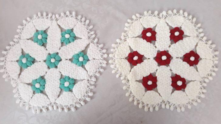 Yuvarlak çiçekli lif yapımı