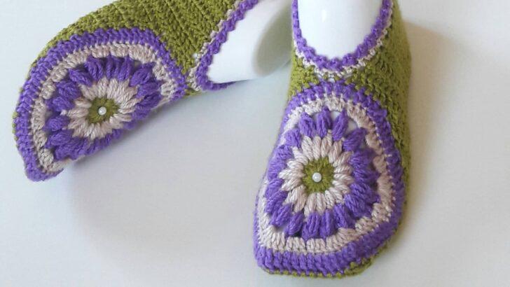Kolay motifli bayan patik yapımı