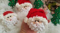 Noel baba anahtarlık yapılışı