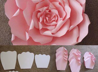 Süslemeler İçin Dev Kağıttan Çiçek Yapımı