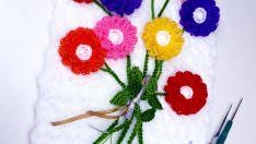 Mimoza çiçeği lif modeli yapımı