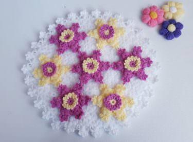 Yıldız çiçeği lif modeli yapılışı