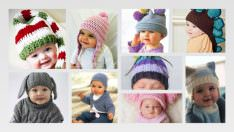 Bebek Örgü Şapka Modelleri 2019