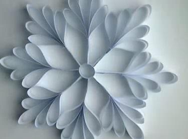 Kağıttan Kar Tanesi Yapımı