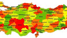 Türkiye Fiziki Haritası İller
