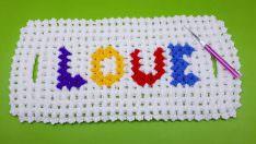 Love yazılı uzun lif modeli yapımı