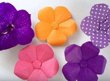 Origami Orkide Yapımı