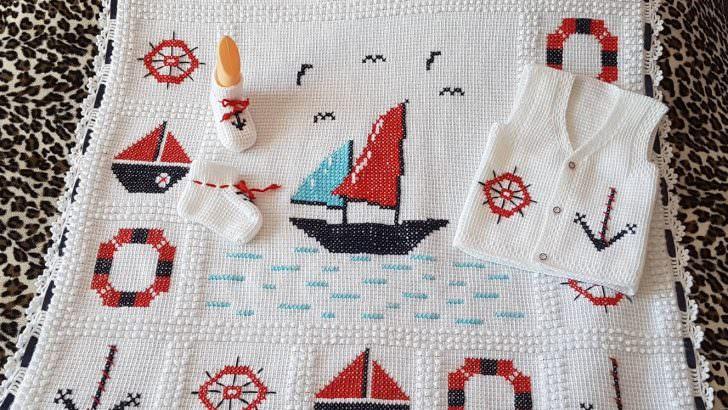 Denizci Bebek Battaniyesi Yapımı