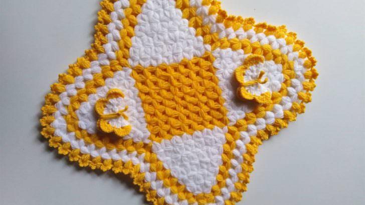 Kare kelebek motifli lif yapımı