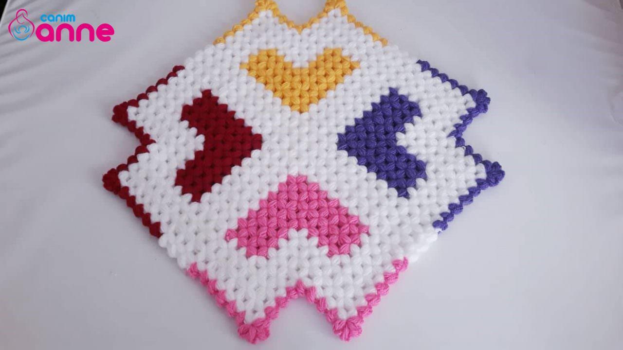 Renkli kalpli kare lif modeli yapımı