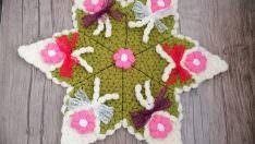 Süslü buket çiçeği lif modeli yapılışı