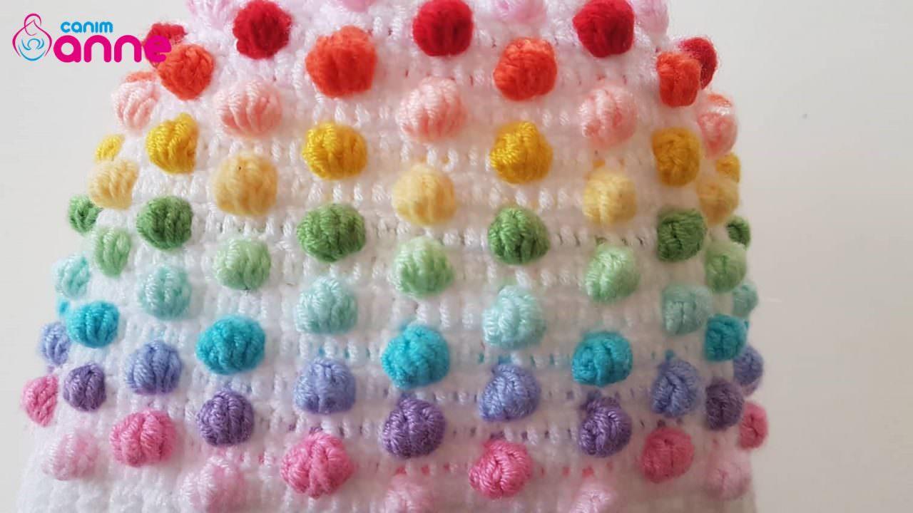 Tek Renk Zemine Popcorn Modeli Yapımı