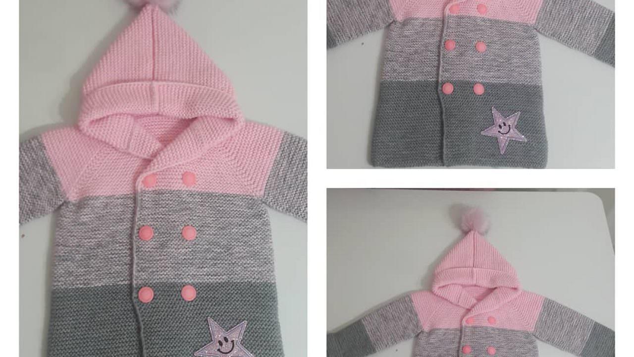 Degrade bebek hırkası modeli nasıl yapılır