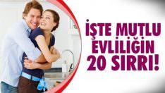 Evliliğinizde Dikkat Etmeniz Gereken 20 Konu