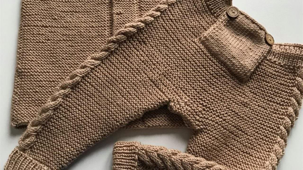 Örgü pantolon yapımı