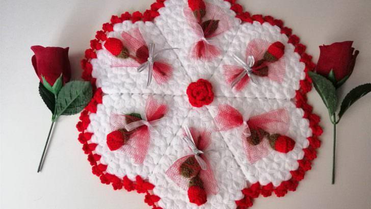 Kırmızı aşk gülü lif modeli yapımı