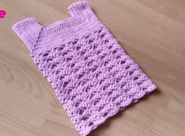 Kolay Tığ İşi Bebek Elbisesi Nasıl Yapılır