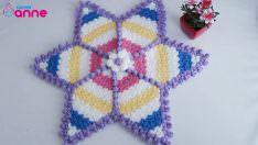Renkli yıldız lif modeli yapımı