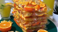 Yaz İçin Portakal ve Limon Dondurun