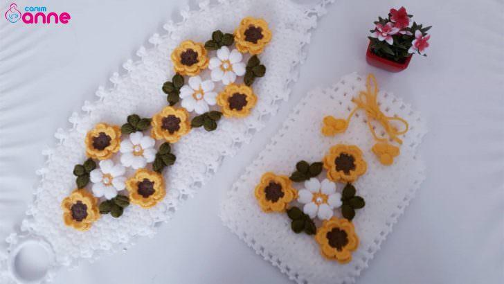 Çiçekli kese lif modeli yapılışı